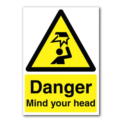 Danger Mind Your Head Sign