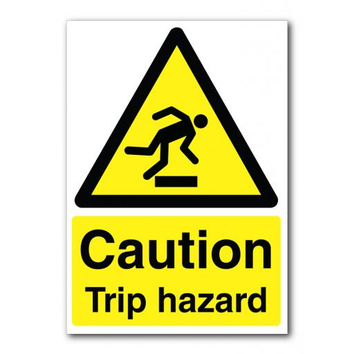 Caution Trip Hazard Sign