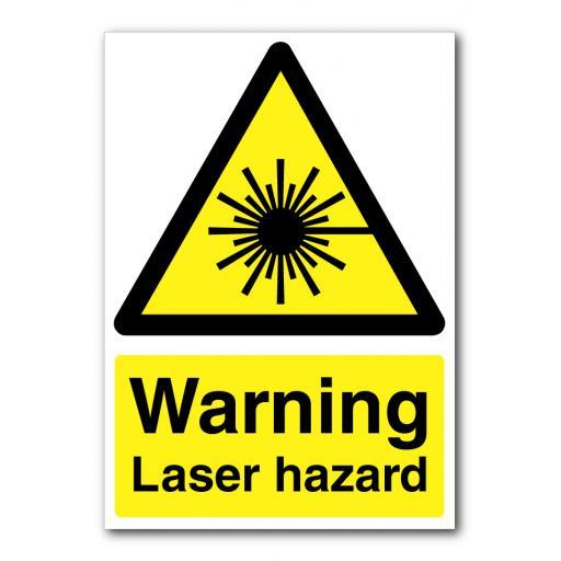 Warning Laser Hazard Sign