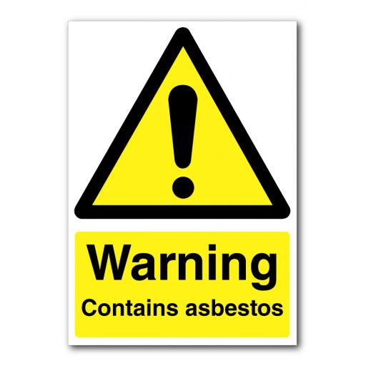 Warning Contains Asbestos Sign
