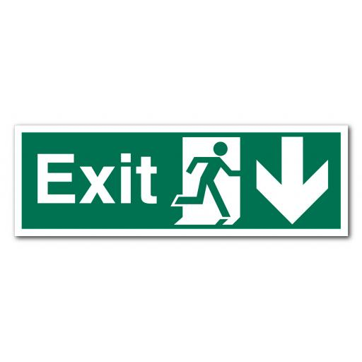 Exit Down Sign