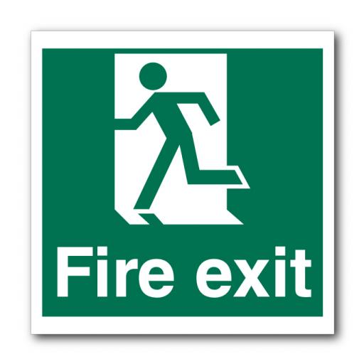 Fire Exit Left No Arrow Sign