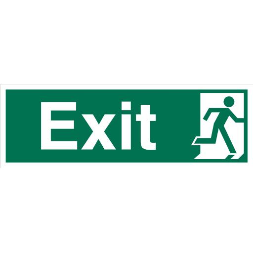 Exit Right No Arrow Sign