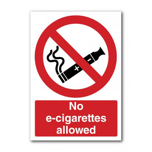No E- Cigarettes Allowed Sign