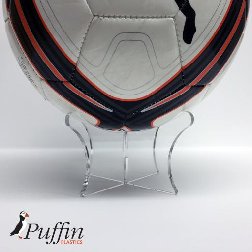 Football Display Stand  Riser Plinth - Clear -PIC1- EAN-5060442640023.jpg