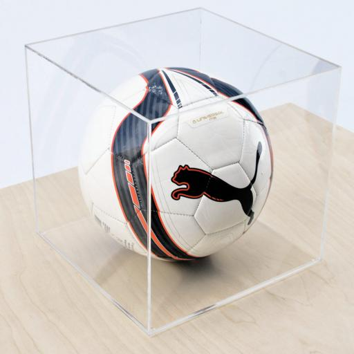 Football Display Case - Clear Base