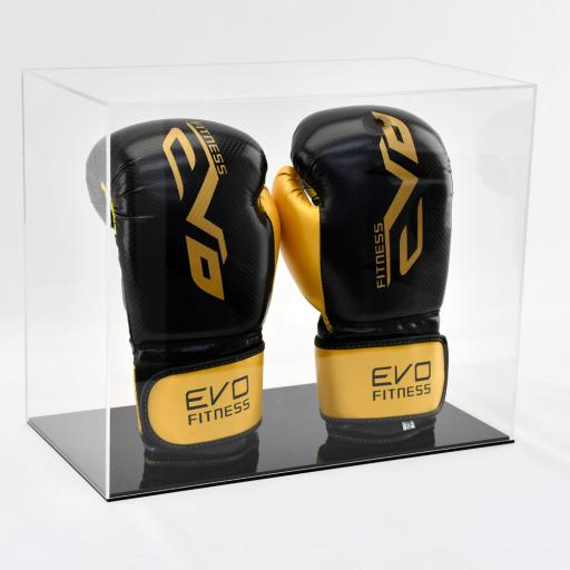 Boxing Glove Display Case - Double Portrait Colour Base
