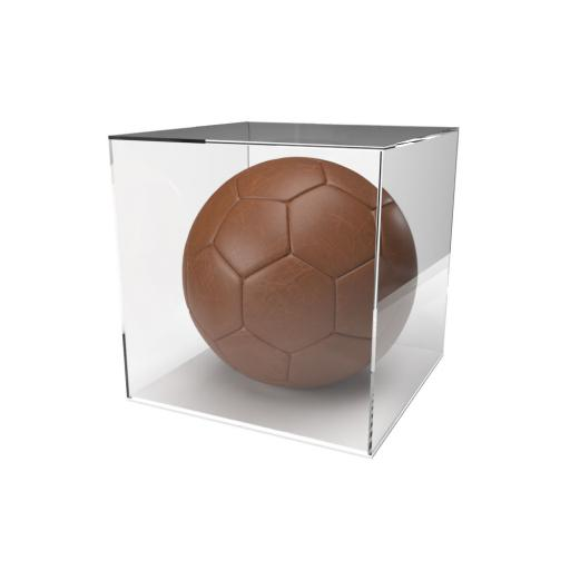 Football Display Case - 5mm Recessed White Base