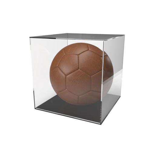 Football Display Case - 5mm Recessed Black Base