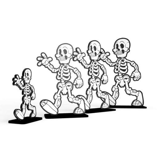 Halloween Skeletons - Free Standing (4-pack)