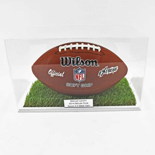 American Football Display Case - Grass Effect Base