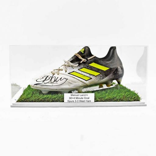 Football Boot Display Case Double - With Grass Effect Base