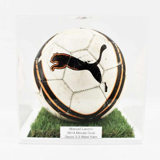 Football Display Case - 10mm White Grass Effect Base