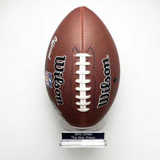 Portrait American Football Holder Wall Bracket - With Inscription
