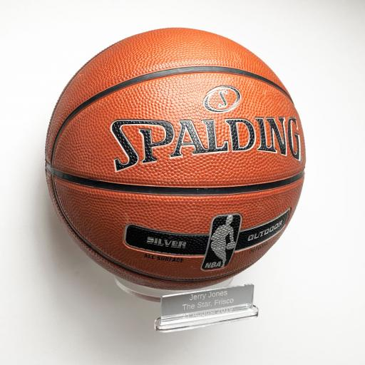 Basketball Holder Wall Bracket - With Inscription