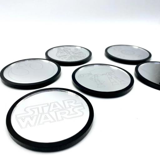 Star Wars Mirror Coasters - 6 Pack