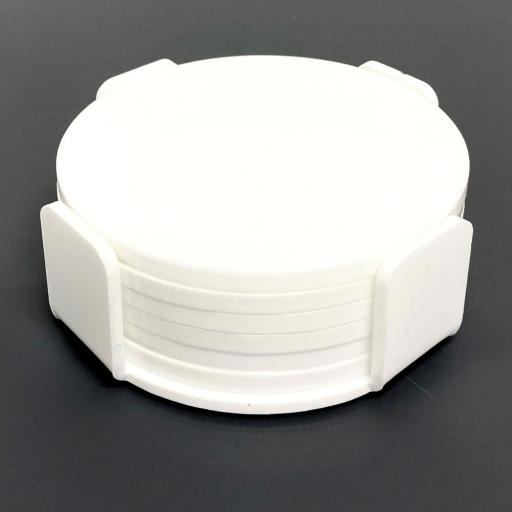 White Coasters - 6 Pack