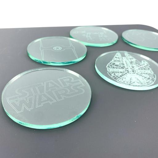 Star Wars Glass Effect Coasters - 6 Pack
