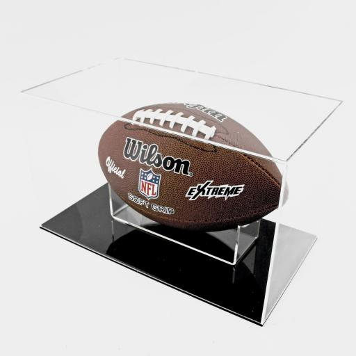 American Football Display Case - Black Base