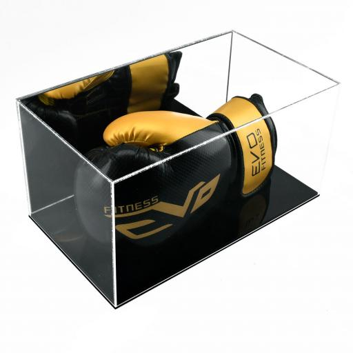 Boxing Glove Display Case - Single Landscape (With Mirror Backing)