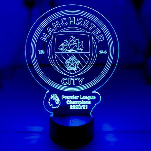 Manchester City Premier League Champions LED Light