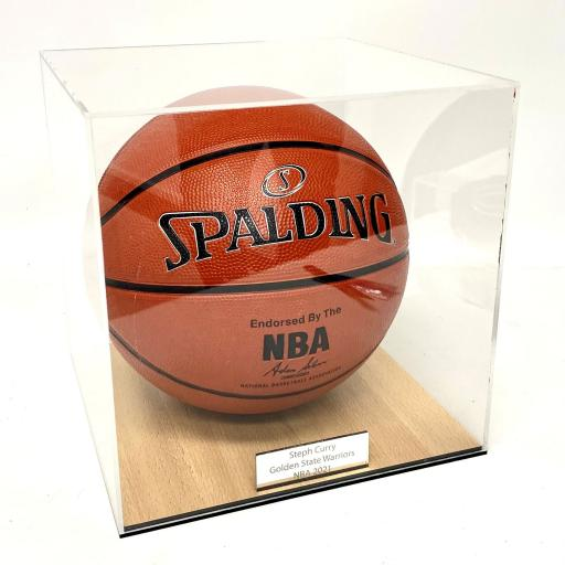 Basketball Display Case - Court Effect Base