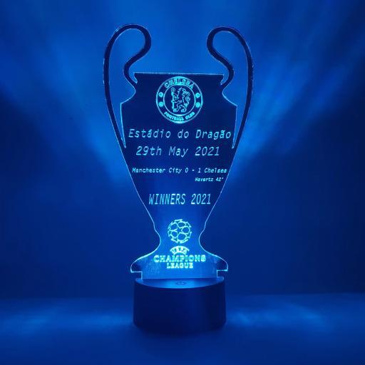 Chelsea Champions League Winners LED Light - Mirror Edition