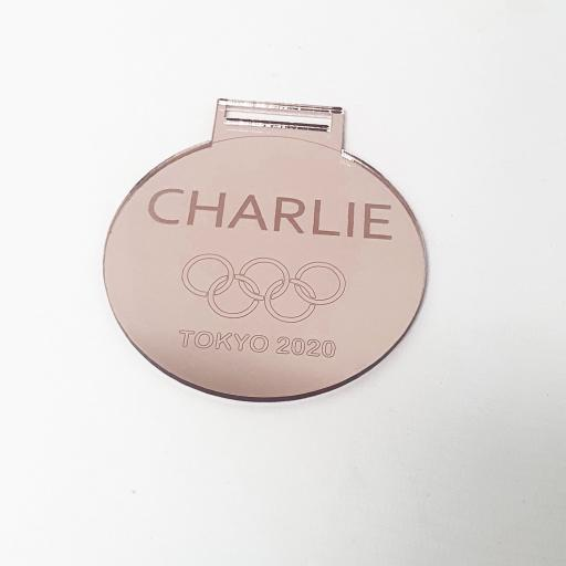 Olympics Tokyo 2020 Personalised Mirror - Bronze Medal