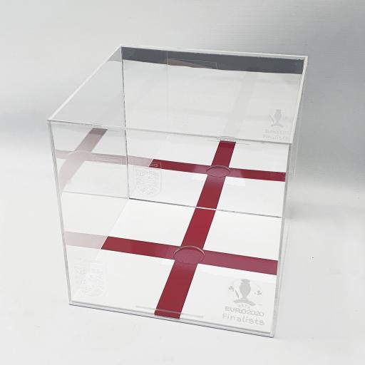 Football Display Case - England Euro 2020 Mirror Engraved Case