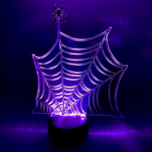 Spiderweb Halloween LED Mirror Light