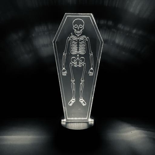 Skeleton Halloween LED Mirror Light