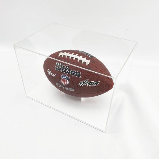 American Football Display Case - White Base