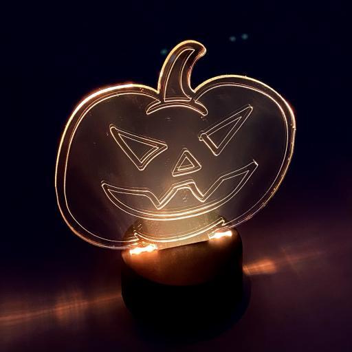 Pumpkin Head Halloween LED Mirror Light